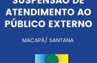 Covid-19: MP-AP suspende atendimento presencial ao público externo em todas as unidades de Macapá e Santana.