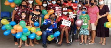 Pacientes curados de covid-19 comemoram alta na UPA da zona sul de Macapá/Ap
