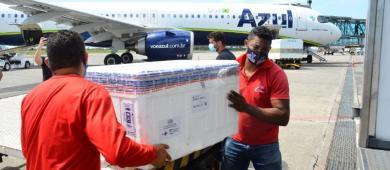 Covid-19: Amapá recebe 31.170 doses de vacinas em dois dias
