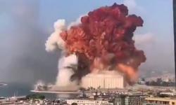 Imagens impressionantes mostram grande explosão em Beirute.