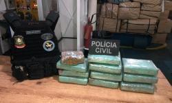 Vídeo: Polícia apreende 10,5kg de maconha dentro de uma mala em embarcação.