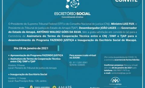 Escritório Social do Amapá será inaugurado nesta quinta-feira (28)