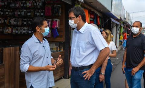 Prefeito de Macapá/Ap Dr. Furlan visita camelódromo e anuncia melhorias para o local.