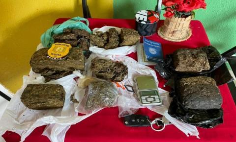 Quatro pessoas são presas e 1,5 kg de maconha são apreendidos no Conjunto Macapaba/Ap