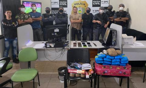 Polícias Civil e Militar prendem três traficantes com mais de 18 kg de drogas em Laranjal do Jari/Ap