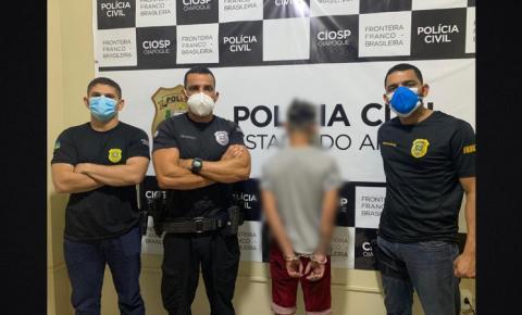 Homem é preso em flagrante por abusar sexualmente da meia-irmã de 4 anos em Oiapoque/Ap