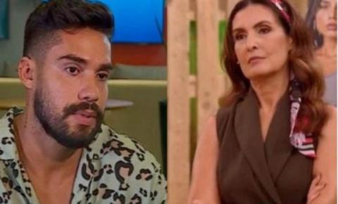 """Eliminado de seu segundo reality show, Arcrebiano se irrita com pergunta de Fátima Bernardes: """"Muito chato"""""""