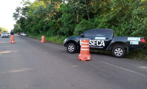 Em feriado de São Tiago, blitz da Lei Seca recupera veículo furtado no AP