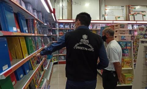 Procon/Ap realiza operação para fiscalizar escolas e lojas de material escolar