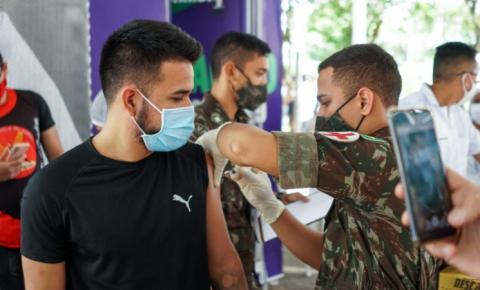 Covid-19: vacinação atende jovens de 18 a 25 anos agendados e profissionais da educação remanescentes nesta quinta (29) em Macapá/Ap