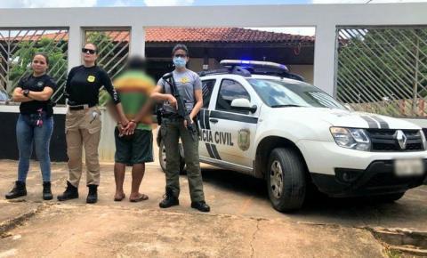 Homem é preso em flagrante após agredir mulher com soco no rosto em Laranjal do Jari/Ap.