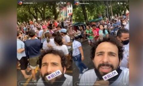 Em Belém/PA, humorista Murilo Couto chama o Círio de 'Lollapalooza de Velha'