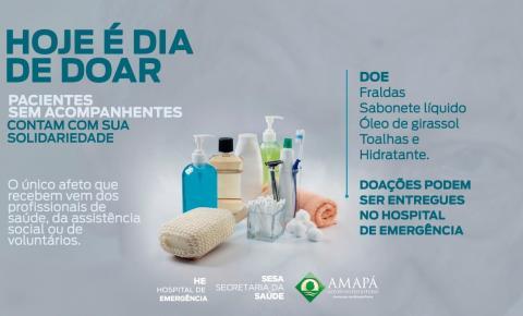 Hospital de Emergência realiza campanha para apadrinhamento de pacientes desacompanhados.